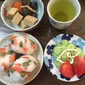 鮭と枝豆いいですよね~~(ステイホーム中の昼ごはん その3)