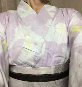 名残の浴衣 紫ピンクが優しく癒してくれます~