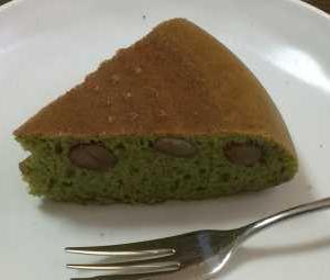 抹茶と金時豆入り炊飯器ケーキ♪