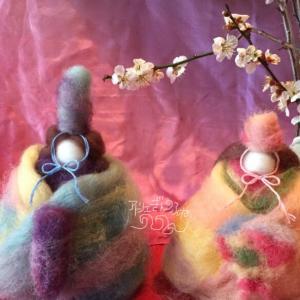 2月大人教室 羊毛でお雛様つくり
