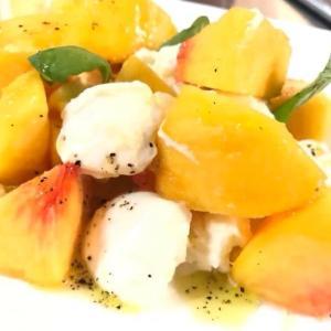 桃とモッツァレラチーズのフルーツサラダ レシピ