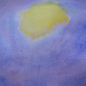 昔、お月さまはお空にはなかったおはなし~満月のにじみ絵~