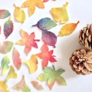 秋のにじみ絵とネイチャーコーナー