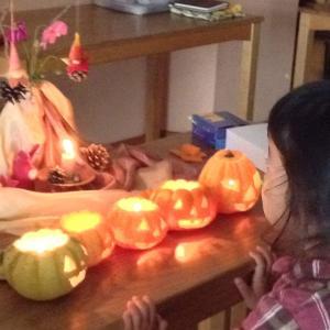 かぼちゃランタン作りzoomでレッスン