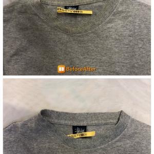 ステューシーのTシャツの襟の黄ばみ