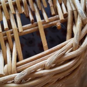 藤かごの修理