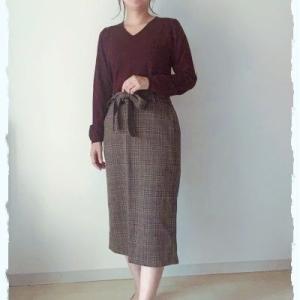 チェックのロングタイトスカート☆shop新商品のお知らせ♪