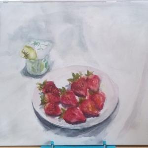 イチゴの練習