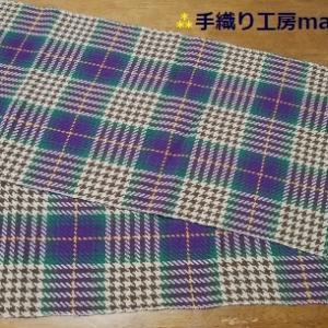 綾織りを駆使したストール