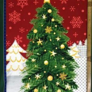 クリスマス柄のパネル(布)