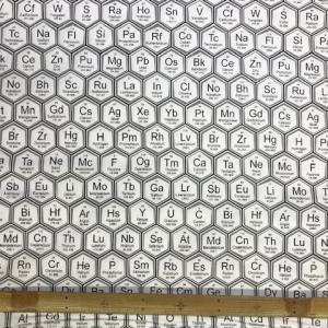 元素記号柄の布