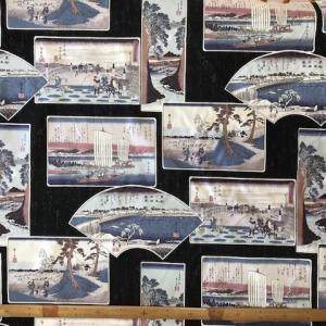 【布】「東海道五十三次」歌川広重