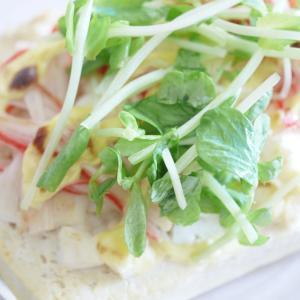 魚焼きグリルde 低カロ豆腐ピザ