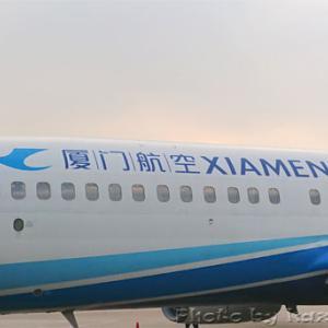 機内食(ホットサンド) 広州-福州@Xiamen Airlines(厦門航空) in 中国出張(1日目④)