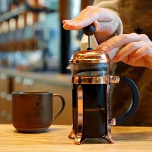 スターバックスのプレスコーヒー