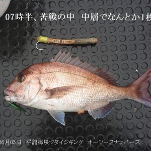 平舘海峡マダイジギング一転激渋
