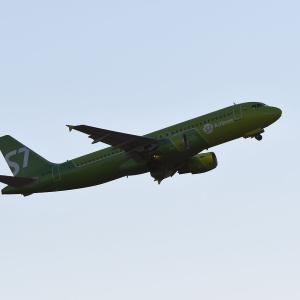 ロシアのS7航空は逆光対策泣かせでした。