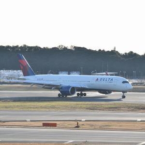 デルタ(A350)午後の成田空港