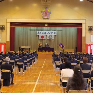 入学式に出席して 中央中学校入学式