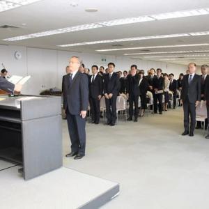 悲しい別れ 88名の退職者 辞令交付式