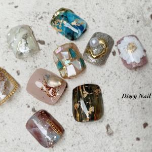 *foot  nail art sample*