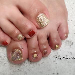 *お客様footnail*凹凸が素敵なニュアンス