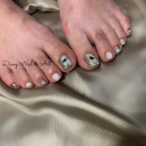 お客様nail*夏のfoot nail