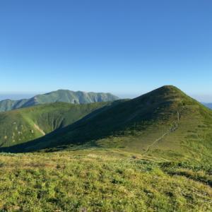 朝日連峰縦走の夏休み:竜門小屋→泡滝ダム(3日目)