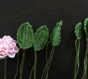 ルナヘヴンリィ*DMC80番で編むお花♪