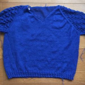 ロイヤルブルーのHoliday*編みたて~♪