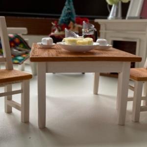 ミニチュアなテーブルセット*完成しました