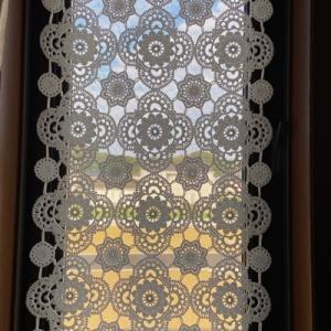 クロッシェのミニカーテン