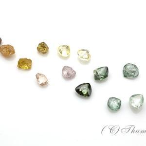 最高に美しいカラーダイヤモンドの原石たち