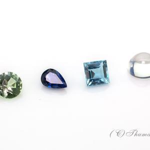 スターペンダントの宝石を選んできました!