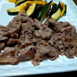 牛肉のガリバタ炒め
