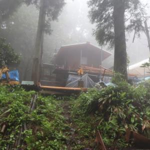 短時間雨量 110mm 凄い雨と雷鳴でしたぁ~。