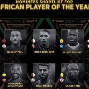マネ&サラーがアフリカ年間最優秀選手賞の最終候補者に