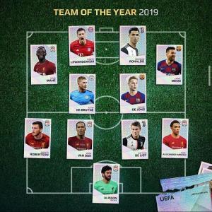 5選手がUEFAチーム・オブ・ザ・イヤー2019に選出