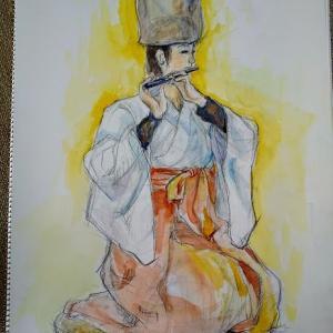 伝統芸能を描く
