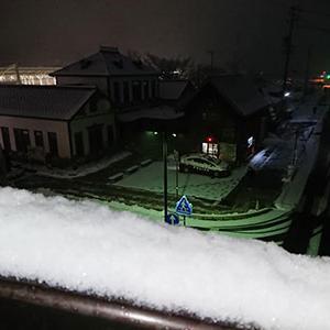 今朝も雪降る軽井沢