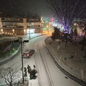 軽井沢はこの冬2度目の大雪警報が出ています
