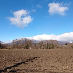 浅間山、いよいよ冠雪3度目です