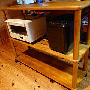 棚とキッチンワゴンを作りました