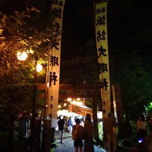 昨晩は諏訪神社の花火大会