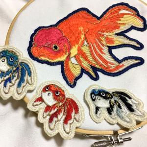 金魚刺繍3