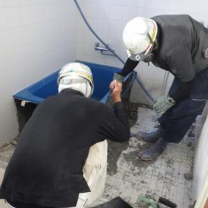 沖縄市で戸建て住宅浴室の改修工事
