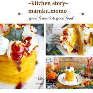 ハロウィン★HMと市販のプリンで作るかぼちゃプリン風パンケーキ