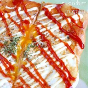 フライパンで簡単!食パン1枚で作る~卵とチーズのホットサンド♪