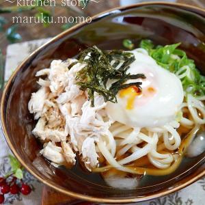 ひんやり~♪サラサラ食べられる★しっとりササミと味付け海苔の冷たい麺