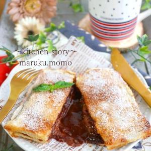 食パンを使って♪フォンダンショコラ風~チョコバナナトースト